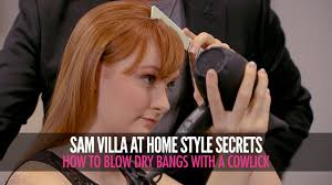 how to cut womens hair with double crown how to blow dry bangs with a cowlick youtube