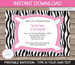 slumber party invitations template sleepover birthday party
