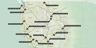 Map Of Grand Canyon The Ultimate Western National Parks Road Trip Outdoor Project