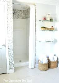 Small Shower Curtain Rod Small Shower Curtains Creative Bathroom Organization And Solutions