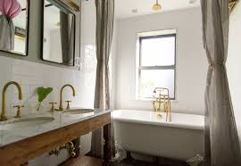 Wall Lining For Bathrooms Double Shower Curtains Design Ideas