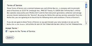 terms of use accepting terms of service through a wufoo form wufoo wufoo