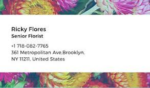 colorful floral background florist business card templates by canva