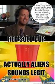 Red Solo Cup Meme - alien solo cup by jaydeeslaydee meme center