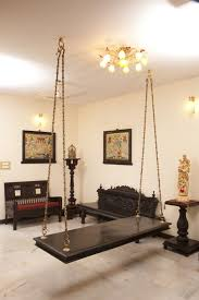 ethnic indian home decor ideas oonjal wooden swings in south indian homes wooden swings