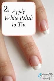 sensationail french manicure tips nails pinterest manicure