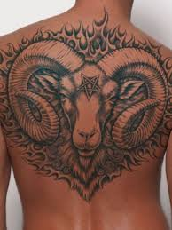 aries tattoo upper back for men photos pictures and sketches