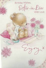 selective cute birthday cards sister in law clearance price from