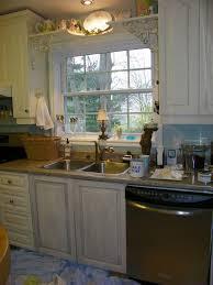 Above Window Shelf by Maison Decor Kitchen Cabs Get A Grey Chalk Wash