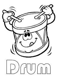 drum art for preschool drum coloring page printable under