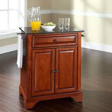 lafayette solid black granite top portable kitchen island wood