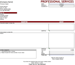 free professional services invoice template excel pdf word