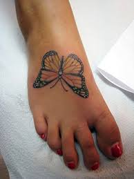 74 delightful butterfly tattoos on foot