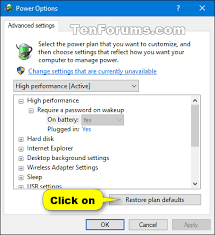resetting battery windows 7 reset and restore power plans to default settings in windows 10