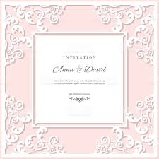 wedding invitation card template with laser cutting frame pastel