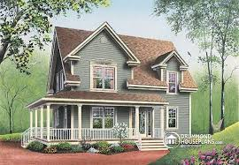 4 bedroom farmhouse plans house plan w2590 detail from drummondhouseplans com