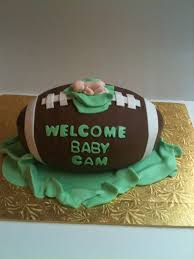 football baby shower baby boy football shower cake well i certainly can t make it