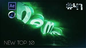 top 10 free intro templates 47 cinema 4d adobe after effects