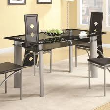 Contemporary Black Dining Chairs Fontana Collection 121051 Contemporary Dining Table Set