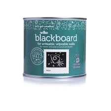 wilko quick dry matt blackboard paint black 500ml at wilko com