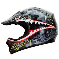motocross safety gear amazon com iv2 youth kid brap bomber shark bomber motocross