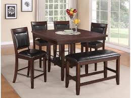 dining room table with bench and chairs fulton 5pc counter height dining set 4 stools stool bench