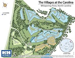 The Villages Florida Map by Villages At The Carolina New Homes In Southern Pines Nc H U0026h Homes