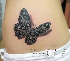 3d effect butterfly with lace wings by jacopo chiarelli