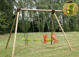 siege bébé balancoire portique bois balançoire enfant carambole soulet jardideco