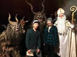 Krampus Halloween Costume Krampus Los Angeles European Christmas Devil Runs Amok La