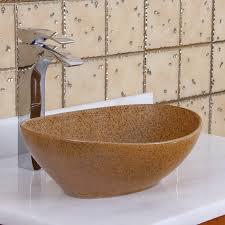 elite 1565 oval sandstone glaze porcelain ceramic bathroom vessel