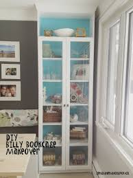 Billy Bookcase With Glass Doors Living Room Zen Shmen Diy Billy Bookcase Makeover In White