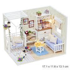 cute room h 013 kitten diary miniature diy dollhouse with led