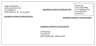 requirements for usps return address endorsements modern litho