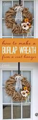burlap wreath how to make a burlap wreath using a coat hanger
