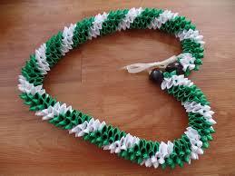 leaf ribbon grad wedding hawaiian green and white swirl rosebud pikake ti leaf