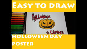 easy to draw halloween poster halloween night costume song kids