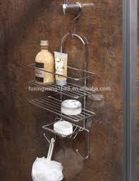 shower organiser mobroi com shower caddy soap storage rack organiser holder chrome with hook