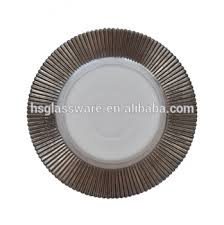 wedding plates for sale hot sale glass charger plate wholesale silver wedding clear