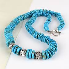turquoise bead bracelet images Turquoise necklaces turquoise beads with silver balls necklace jpg