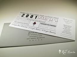 typographic style 10 year high reunion invitations