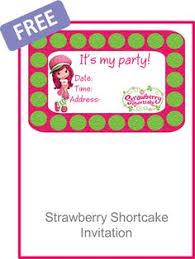printable birthday invitations strawberry shortcake free printable birthday invitations printable birthday strawberry