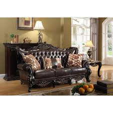 cherry brown leather sofa meridian furniture 675 s barcelona tufted brown leather sofa on rich