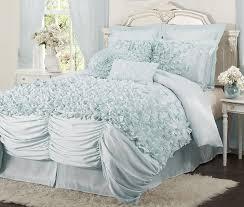 light blue and white bedding ruched bedding sets king comforter