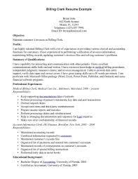 billing resume exles billing resume exles billing clerk resume sle