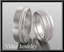 his and hers matching wedding bands diamond matching wedding bands vidar jewelry unique custom