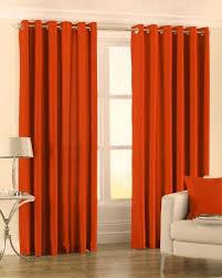 striking burnt orange faux silk curtains eyelet