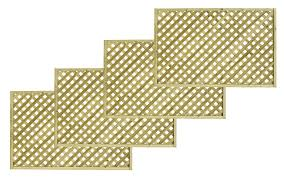 woodbury timber square trellis panel h 1 8m w 1 2 m pack of 4