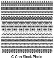 clipart of ornamental trim oder border set black ornamental trim