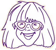 junie b jones and the yucky blucky fruitcake coloring page inside